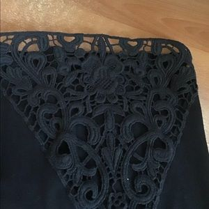 Catherines Tops - 1X Tunic Top with great black crochet. Must see.